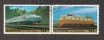 Stamps North Korea -  tren eléctrico Juche