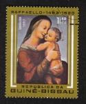 Sellos del Mundo : Africa : Guinea_Bissau : 500 aniversario del nacimiento de Rafael, Madonna y niño