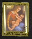 Sellos del Mundo : Africa : Guinea_Bissau : 500 aniversario del nacimiento de Raffaello, Madonna y el niño
