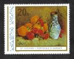Sellos de Europa - Rumania -  Pinturas de Stefan Luchian, naranjas y claveles