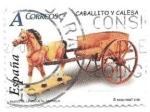 Sellos de Europa - España -  Caballito y calesa