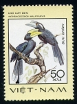 Stamps Asia - Vietnam -  anthracoceros malayanus