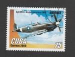 Stamps Cuba -  Avión Spitfire