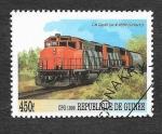 Sellos de Africa - Guinea -  Mi2726 - Locomotora