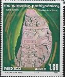 Stamps : America : Mexico :  Doble Tláloc (Deidad de la lluvia)