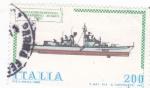 Sellos del Mundo : Europa : Italia :  Construcción naval italiana- Audaz