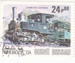 Stamps : Africa : Guinea_Bissau :  locomotora antigua