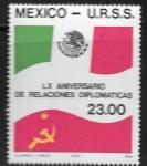 Stamps : America : Mexico :  60 aniversario relaciones diplomáticas México- Unión Soviética