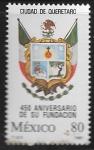 Stamps : America : Mexico :  450 años de la fundación de la Ciudad de Querétaro