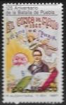 Stamps : America : Mexico :  125 años de la Batalla de Puebla