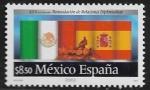Stamps : America : Mexico :  25 años de reanudación de relaciones diplomáticas México- España
