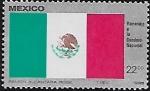 Stamps : America : Mexico :  Bandera Nacional
