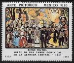 """Stamps : America : Mexico :  """"Sueño de una tarde dominical en la Alameda Central """""""
