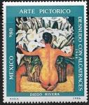 """Stamps : America : Mexico :  """"Desnudo con alcatraces"""""""