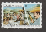 Sellos de America - Cuba -  Aniv. del primer congreso campesino en armas
