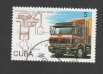 Stamps Cuba -  Desarrollo del motor diesel