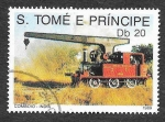 Stamps São Tomé and Príncipe -  887 - Locomotora