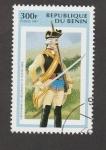 Sellos de Africa - Benin -  Gendarme regimiento de infanteríae