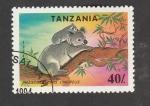 Stamps : Africa : Tanzania :  Phascolacios cinereus
