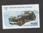Stamps : Africa : Republic_of_the_Congo :  Coches antiguos