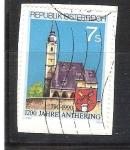 Sellos de Europa - Austria -  100 anv de Anthering RESERVADO