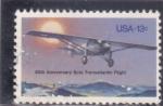 Sellos del Mundo : America : Estados_Unidos : 50 aniversario vuelo transatlántico