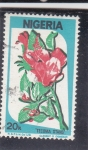 Stamps : Africa : Nigeria :  flores- tecoma stans