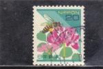 Stamps Japan -  flores y abeja