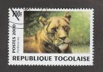 Stamps : Africa : Togo :  Panthera leo