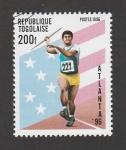 Stamps : Africa : Togo :  Atlanta 96 Lanzamiento jabalina
