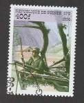Stamps : Africa : Guinea :  Cazador