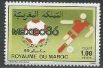 Sellos del Mundo : Africa : Marruecos :  Mexico  86