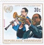 Stamps : Africa : Rwanda :  lucha contra el racismo