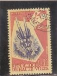 Stamps : Africa : Burkina_Faso :  mascara- bicho