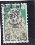 Stamps : Africa : Burkina_Faso :  mascara-