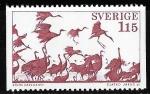 Stamps : Europe : Sweden :  Suecia-cambio