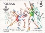 Sellos de Europa - Polonia -  Olimpiada de Los Angeles'84