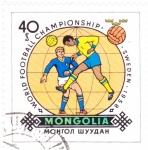 Stamps Asia - Mongolia -  Mundial Suecia´58