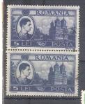 Sellos de Europa - Rumania -  rey miguel y palacio real RESERVADO
