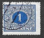 Stamps Europe - Czechoslovakia -  J65 - Número