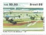 Stamps America - Brazil -  plano piloto de Brasilia