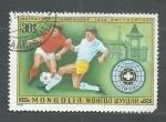 Stamps Asia - Mongolia -  Futbol