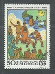 Stamps Asia - Mongolia -  lucha
