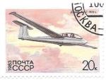 Sellos de Europa - Rusia -  vuelo sin motor