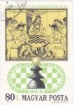 Stamps Hungary -  Royal Chess Party, siglo XV, Libro de Ajedrez Italiano