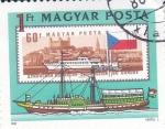 Stamps Hungary -  barco vapor por el Danubio