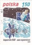 Stamps : Europe : Poland :   Kopernik 500 y satélite Copérnico