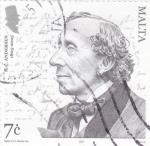 Stamps : Europe : Malta :  Hans Christian Andersen