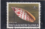 Stamps of the world : Papua New Guinea :  caracola- Mitra mitra