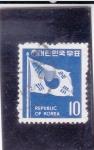 Stamps Asia - South Korea -  bandera